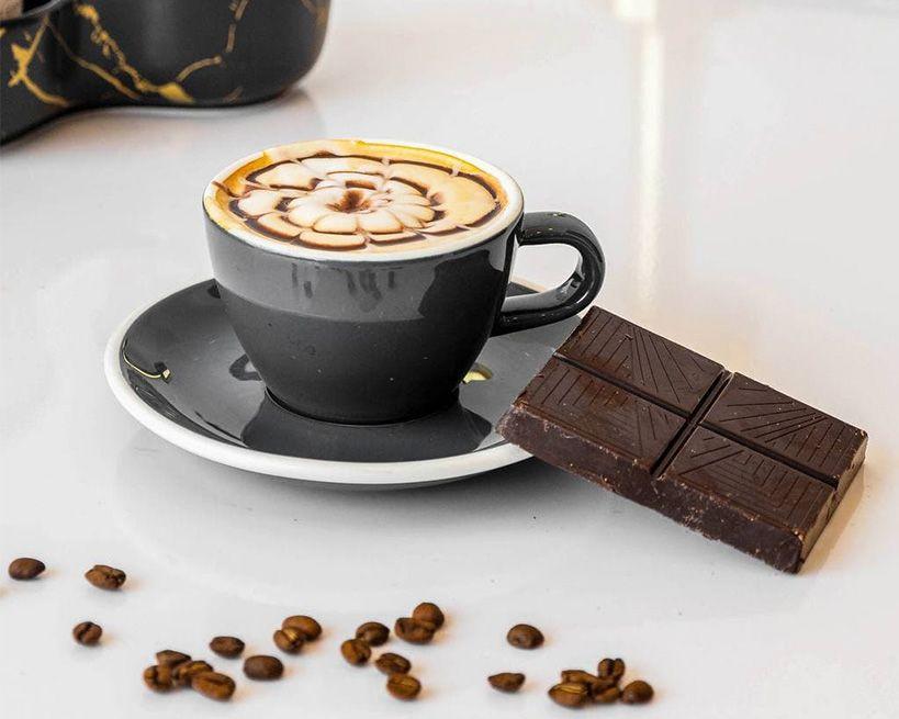 Hot mocha latte